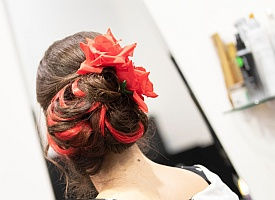 Spanish Red Hair Piece
