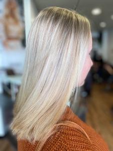 Hair Blonde Foils After