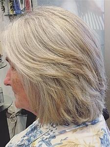 Hair cut after
