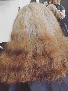 Hair cut before