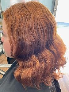 Mahogany Hair Before